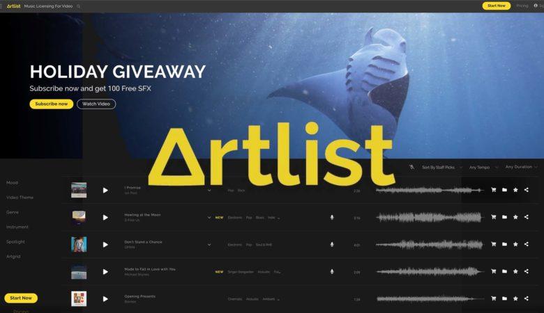 動画クリエイターにおすすめの音楽素材ダウンロードサイトArt List