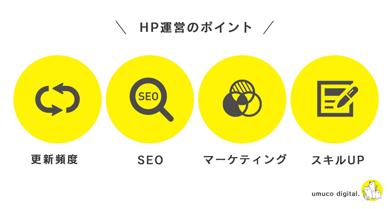 HP運営のポイント