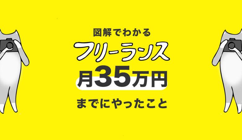 【フリーランスの稼ぎ方】月収35万円!3つの収入源と「売れる」ステップをつくるコツ